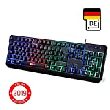 KLIMTM Chroma Gaming Tastatur - Gamer Keyboard LED...