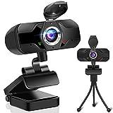Webcam 1080P mit Mikrofon, PC Laptop Desktop USB...