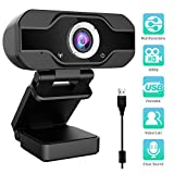Aiglam Webcam HD 1080P, Webcam Full HD USB Kamera...