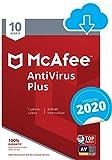 McAfee AntiVirus Plus 2020 | 10 Geräte | 1 Jahr |...