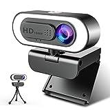 1080P Webcam Ringlicht, NIYPS Full HD Web Camera...
