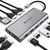 Docking Station, 12 Ports USB C Hub Triple-Display...